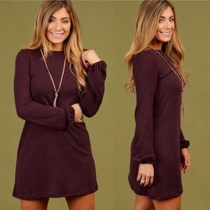 Altar'd State• Maple Valley Sweater Dress Burgundy